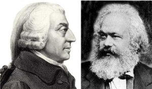 Adam Smith og Karl Marx
