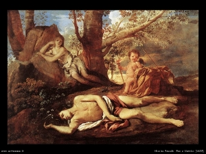 Nicolas Poussin: Eco och Narcissus, 1628