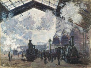 Claude Monet (1840-1926), The Gare Saint-Lazare, 1877 oil on canvas, 54,3 x 73,6 cm The National Gallery, London. Bought 1982