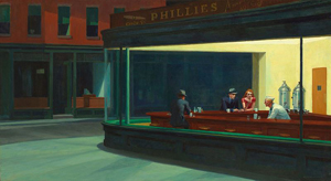 Edward Hopper Nighthawks 1942 Källa Wikimedia Commons