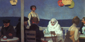 EdwardHopper Soir Bleu 1914 Källa Wikimedia Commons